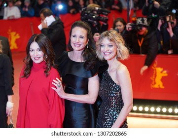 Iris Berben, Andie MacDowell, Heike Makatsch attends the 'The Kindness Of Strangers' premiere  the 69th Berlinale Film Festival at Palace in Berlin, Germany on February 07, 2019.