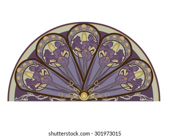 iris flower decorative floral design element