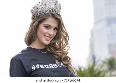 Iris Mittenaere, Miss Universe 2016 Winner at Miss Universe Welcome Event, Planet Hollywood Las Vegas in Las Vegas, NV on 11/16/2017.