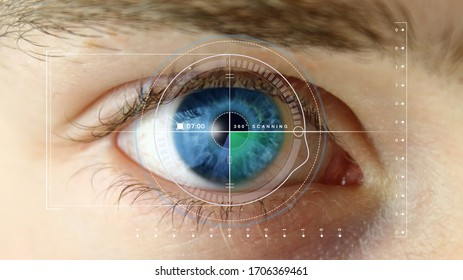 Iris recognition of the eye