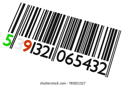 Irish barcode on a white background