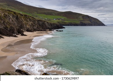 Irish beach on the coastline