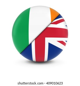 Irish and British Flag Ball - Split Flags of Ireland and the UK
