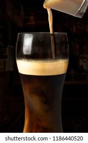 Irish Car Bomb On Dark Background. Beverage Photography
