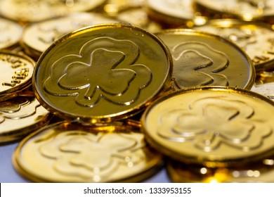 Irish clover coin