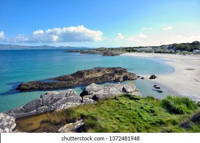 Irish coast and beach in summer time