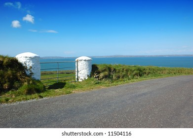 Irish country road in kerry