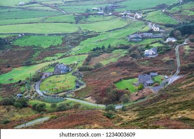 Irish countryside on a misty day