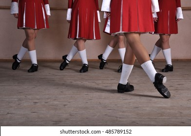 Irish dancing women's legs