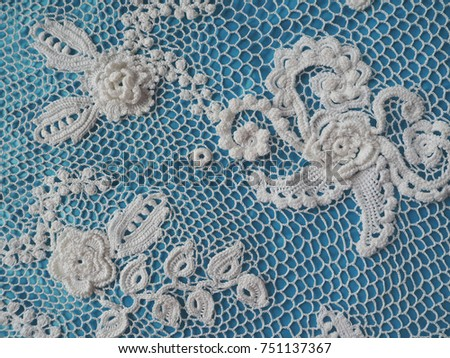 Irish Lace Crochet Elements White Knitted Stock Photo Edit Now