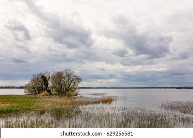 Irish Lake Scene, in Belvedere Estate, County Westmeath, Ireland.