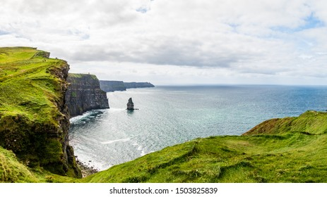 The Irish landscape, Cliffs of Moher view to Atlantic ocean