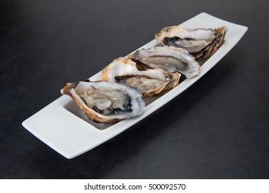 Irish oysters of Connemara.