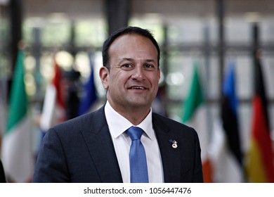 Irish Prime Ministers Leo Varadkar arrives to attend in European Union leaders summit at the European Council on in Brussels, Belgium.on Jun. 22, 2017