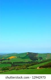 Irish Rural Fields Landscape