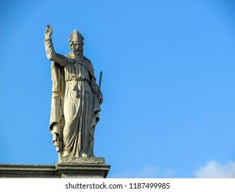 The Irish Saint blessing the people of Dublin.