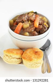 Irish stew with buttermilk biscuits