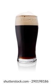 Irish Stout beer isolated on white background