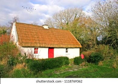 Irish Thatched Country Cottage Connemara, Ireland
