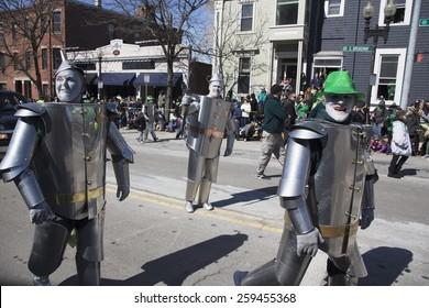 Irish Tin Man, St. Patrick's Day Parade, 2014, South Boston, Massachusetts, USA, 03.16.2014
