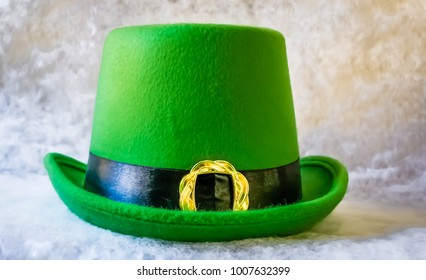 Irish tophat on a white background