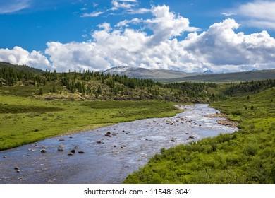 Irkut river, landscape, summer, day