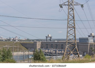 Irkutsk, Russia - Aug 26, 2014: Hydroelectric power station.
