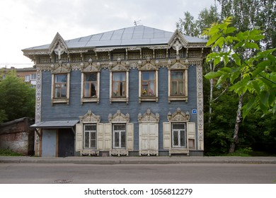 IRKUTSK, RUSSIA - JULY 26, 2012: Old wooden house in Irkutsk, Russia.