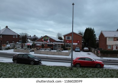 Irlam Salford Greater Manchester England 27th February 2018 a very snowy day