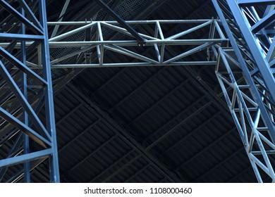 iron beam steel structure industrial metallic modern background
