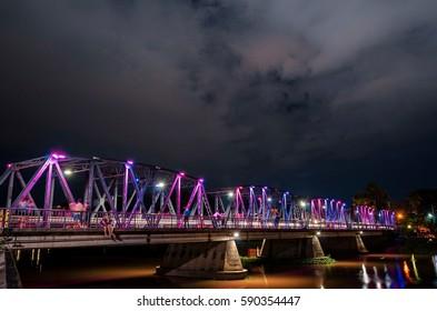 Iron bridge in Chiangmai Thailand
