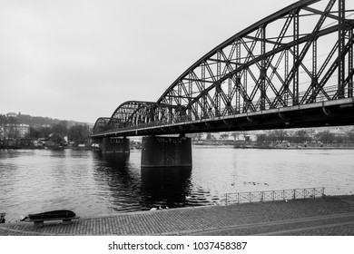 The iron bridge in Prague