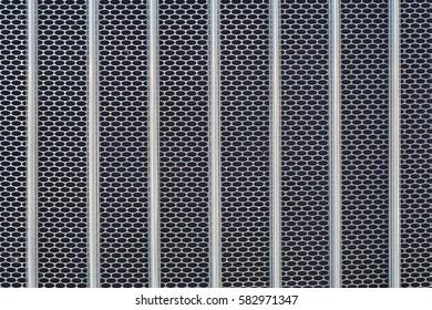 iron chrome metal grid pattern radiator truck texture