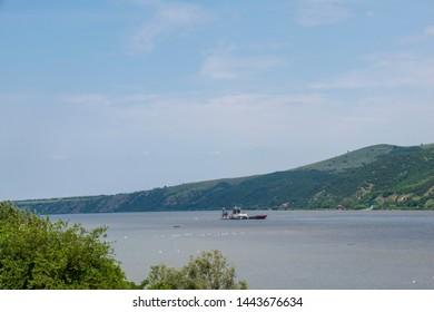 Iron curtain trail - Danube river - border between Serbia and Romania
