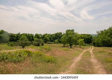 iron curtain trail road - Serbian border