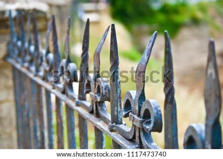 Iron Fence Bent Age Use Rhonda Stock Photo (Edit Now) 1117473740