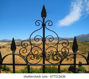 Iron Fence in Ronda, Spain