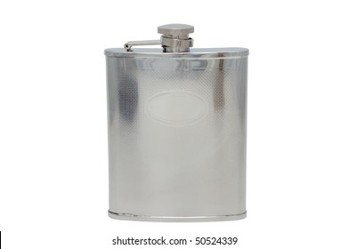 Iron flask isolated on a white background.