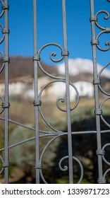 iron gate handcrafted by blacksmith