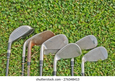 Iron golf with the grass