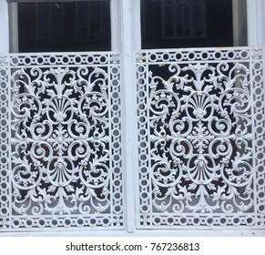 iron grating on window in Charleston, SC