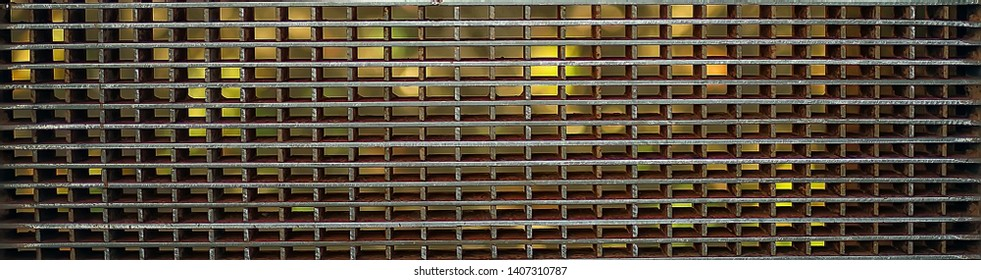 iron grill background wate rwhite