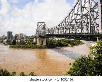 Iron History bridge in Brisbane of Queenland,Australia.