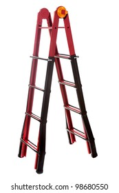 iron ladder a step-ladder on a white background it is isolated.