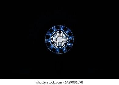 Iron man arc reactor with light