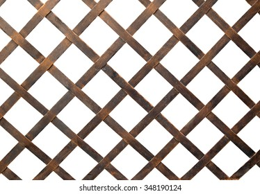Iron net or steel Cage isolate on white background