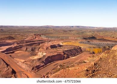 Iron ore mine at Newman in the Pilbara region of outback Western Australia.