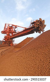 Iron ore storage yard