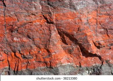 Iron ore texture closeup