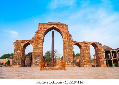 Iron pillar of Delhi or Ashoka Pillar is 7 meters high structure in the Qutub Minar complex in Delhi, India